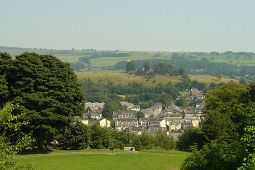 Looking over Kendal to the castle.